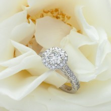 Custom Design - Fabulous Halo Round Diamond Ring