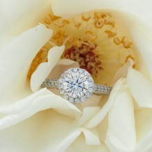 Radiant Custom Diamond Engagement Ring