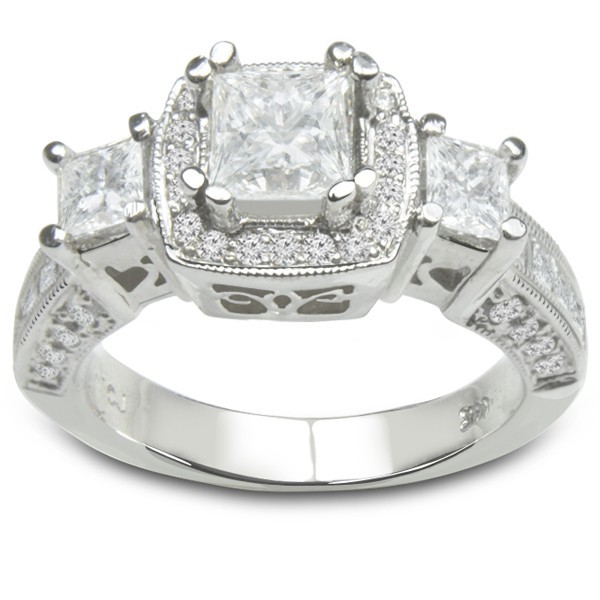 14k White Gold Diamond Engagement Rings - Custom Designed